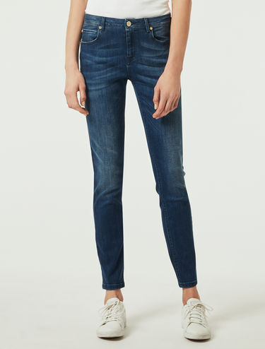 Power-stretch skinny jeans