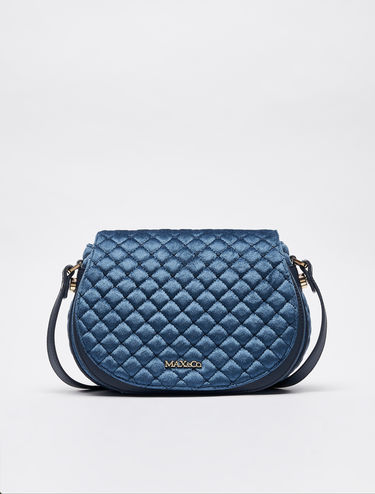 Velvet quilted cross-body