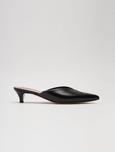 Mini heel nappa mules