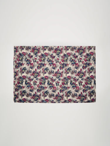 Flowing muslin scarf