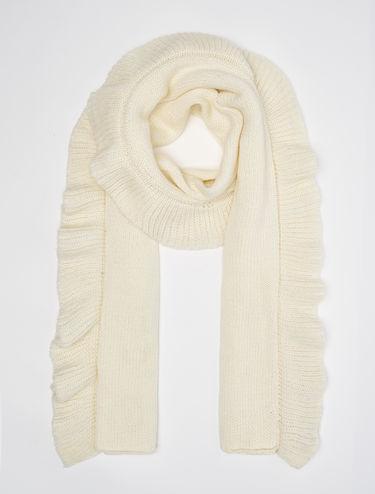 Sciarpa tricot con maxi-ruche