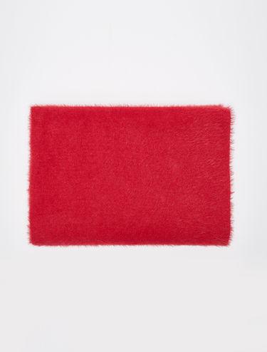 Sciarpa tricot con texture garzata
