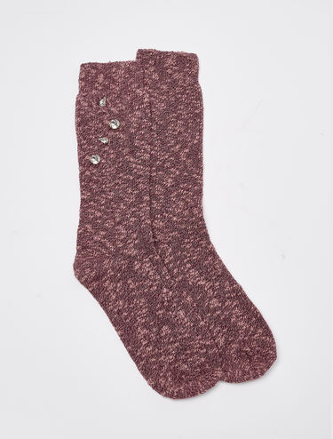 Chiné socks with embroidery
