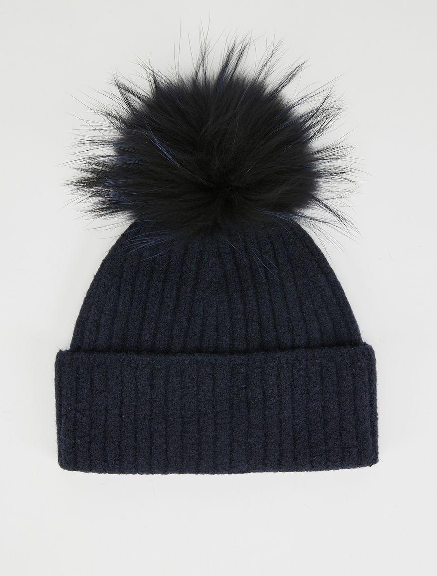 f66f6f6f306 Beanie hat with pom pom