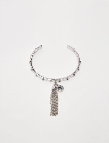 Rigid bracelet with crystals