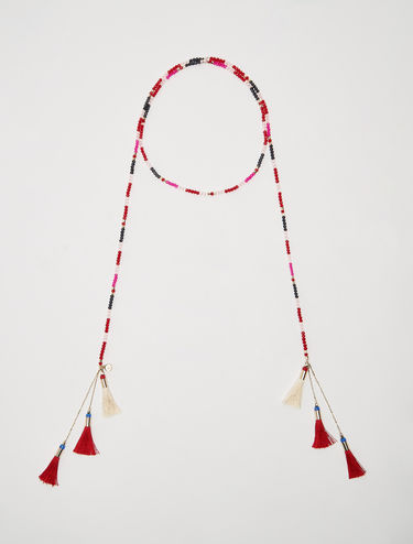 Open necklace with tassels