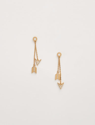 Earring jackets with crystals