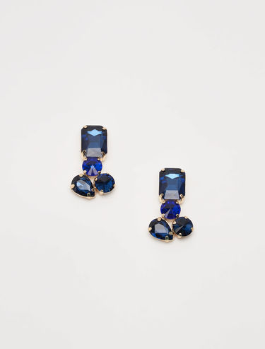 Geometrical rhinestone earrings
