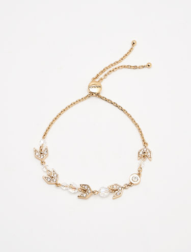 Bracelet with crystals and chain
