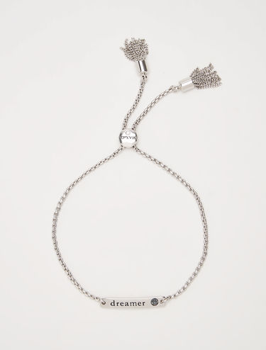 Lettering bracelet with crystals