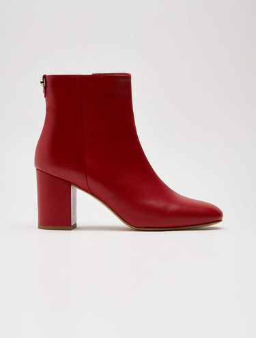 Smooth nappa ankle boots