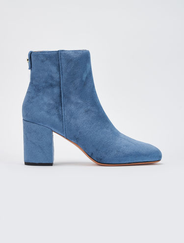 Smooth velvet ankle boots