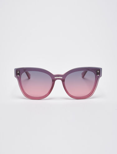 Glittery sunglasses with overlays