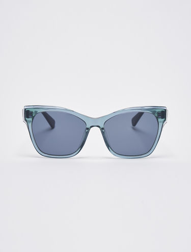 Sunglasses with overlays