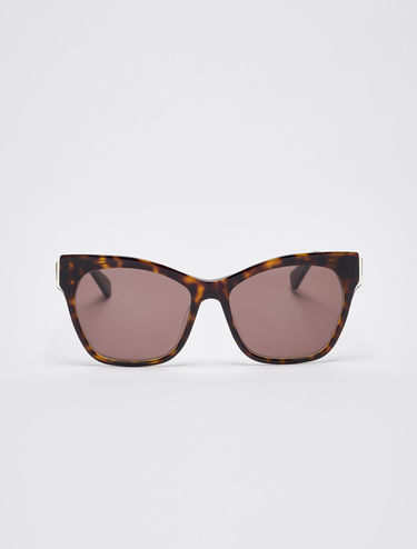 Sunglasses with overlays
