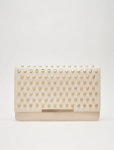 Maxi clutch bag with studs