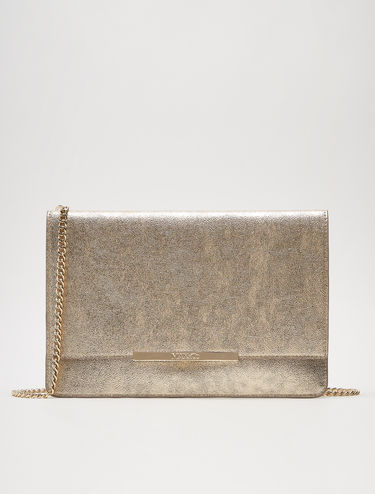 Maxi laminated clutch bag