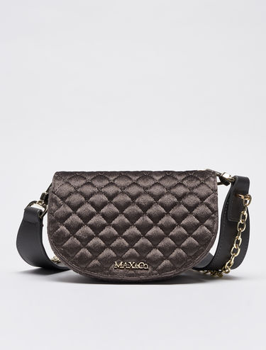 Belt bag in quilted velvet
