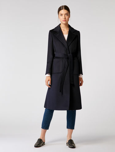 Wool drape coat
