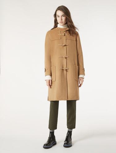 Wool cloth duffle coat