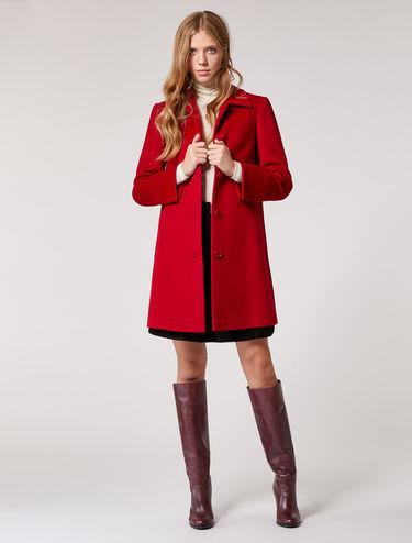 Manteau en étoffe de laine