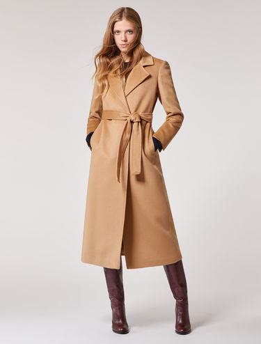 Cappotto midi in panno di lana