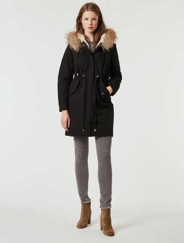 Padded technical cotton parka
