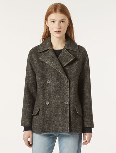 Wool cloth pea coat