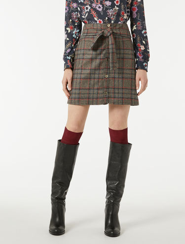 Check flannel skirt