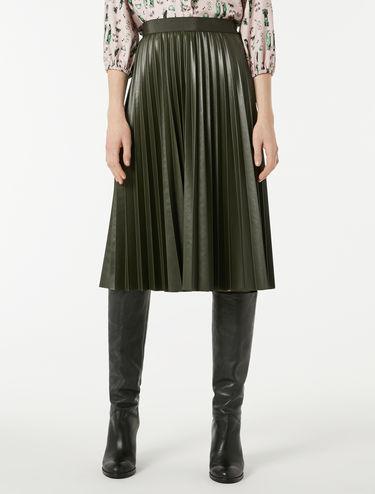 プリーツ コーティング ジャージースカート