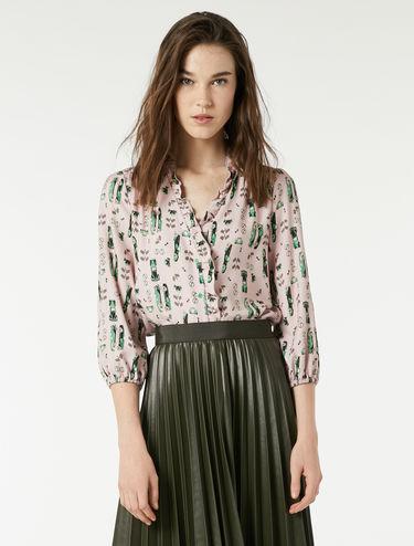 Sablé fabric blouse
