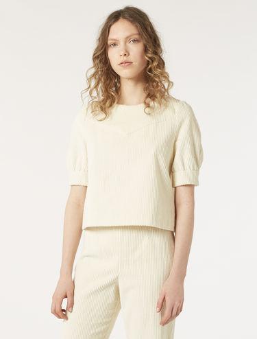Ribbed velvet blouse