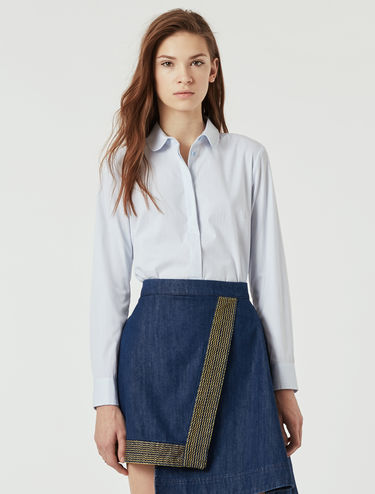 Slim-fit stretch poplin shirt