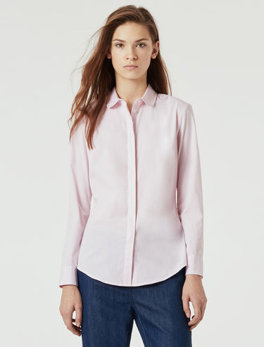 Slim-fit stretch poplin shirt