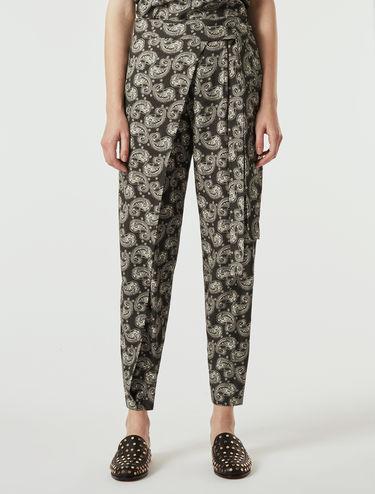 Sablé crêpe sarong trousers