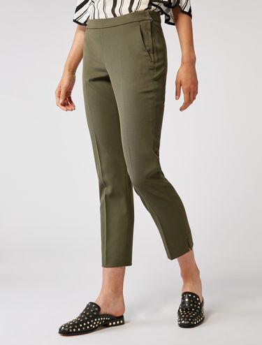 Pantaloni slim in cavalry twill