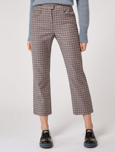 Straight fit flannel trousers