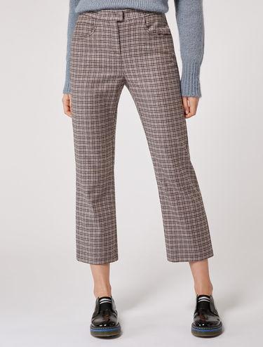 Pantaloni straight fit in flanella