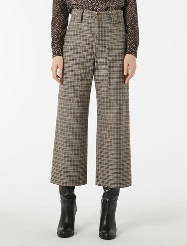 Pantaloni a vita alta in flanella