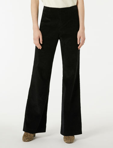 Wide, ribbed velvet trousers