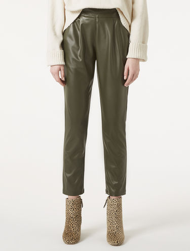 Pantaloni in jersey spalmato