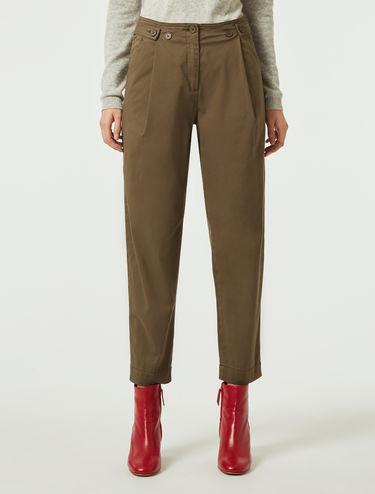Pantalon en gabardine de coton