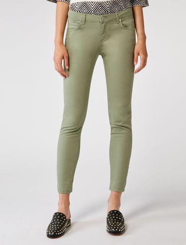 Skinny-Hose aus Baumwollsatin