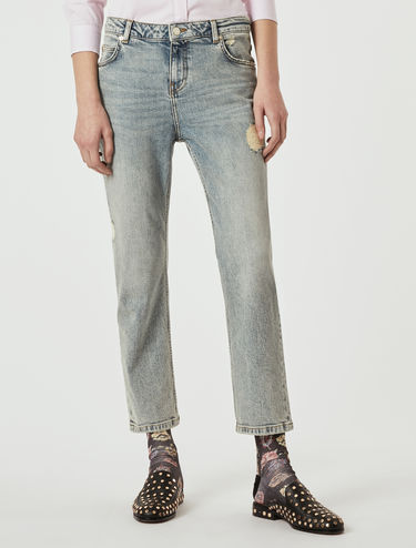 Vintage-look straight-fit jeans