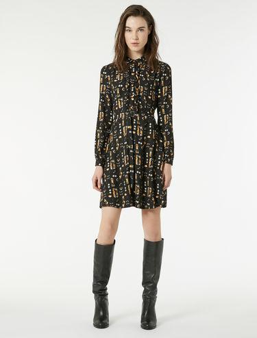 Sablé fabric dress