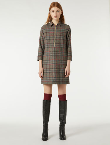 Check pattern flannel dress