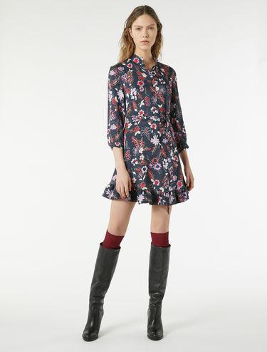 Bedrucktes Kleid aus Jacquardgewebe