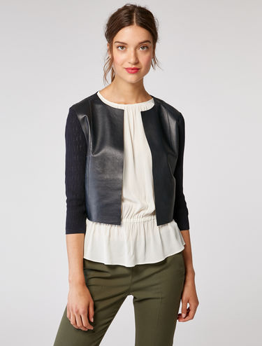 Stretch yarn nappa jacket