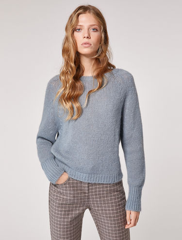 Mohair round-neck sweater