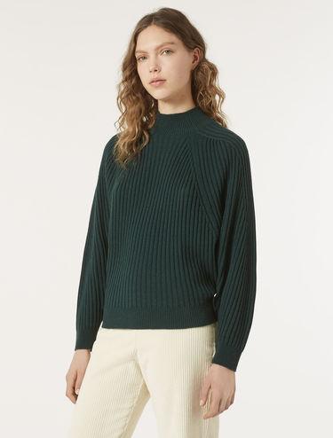 Diamond-shape ribbed sweater